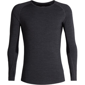 Icebreaker 200 Zone Longsleeve Crew Shirt Heren, jet heather/black